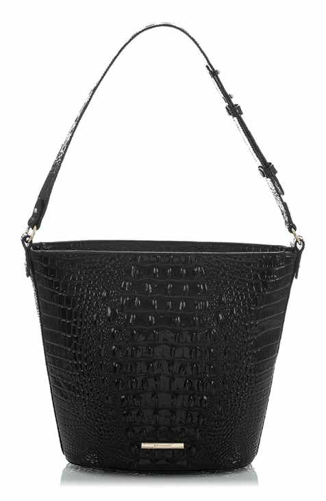 eeb72f0ee Brahmin Quinn Croc Embossed Leather Bucket Bag