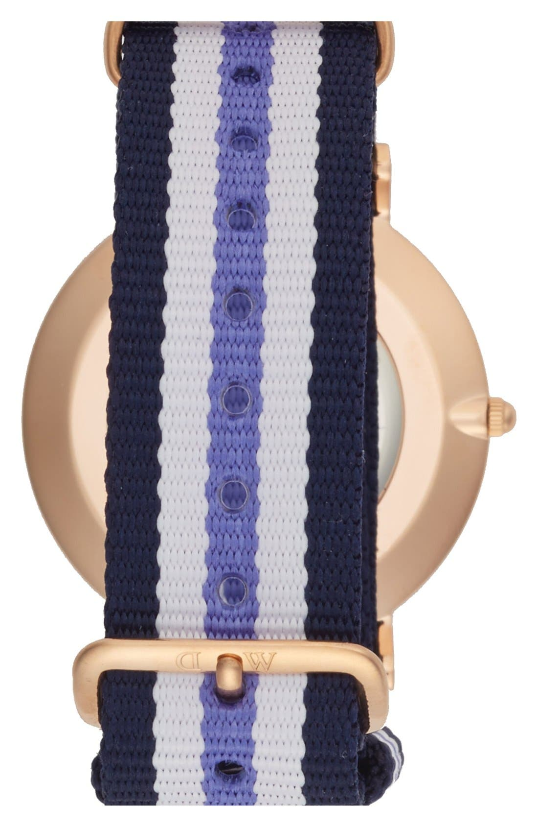 Alternate Image 2  - Daniel Wellington 'Classic Trinity' Round NATO Strap Watch, 36mm