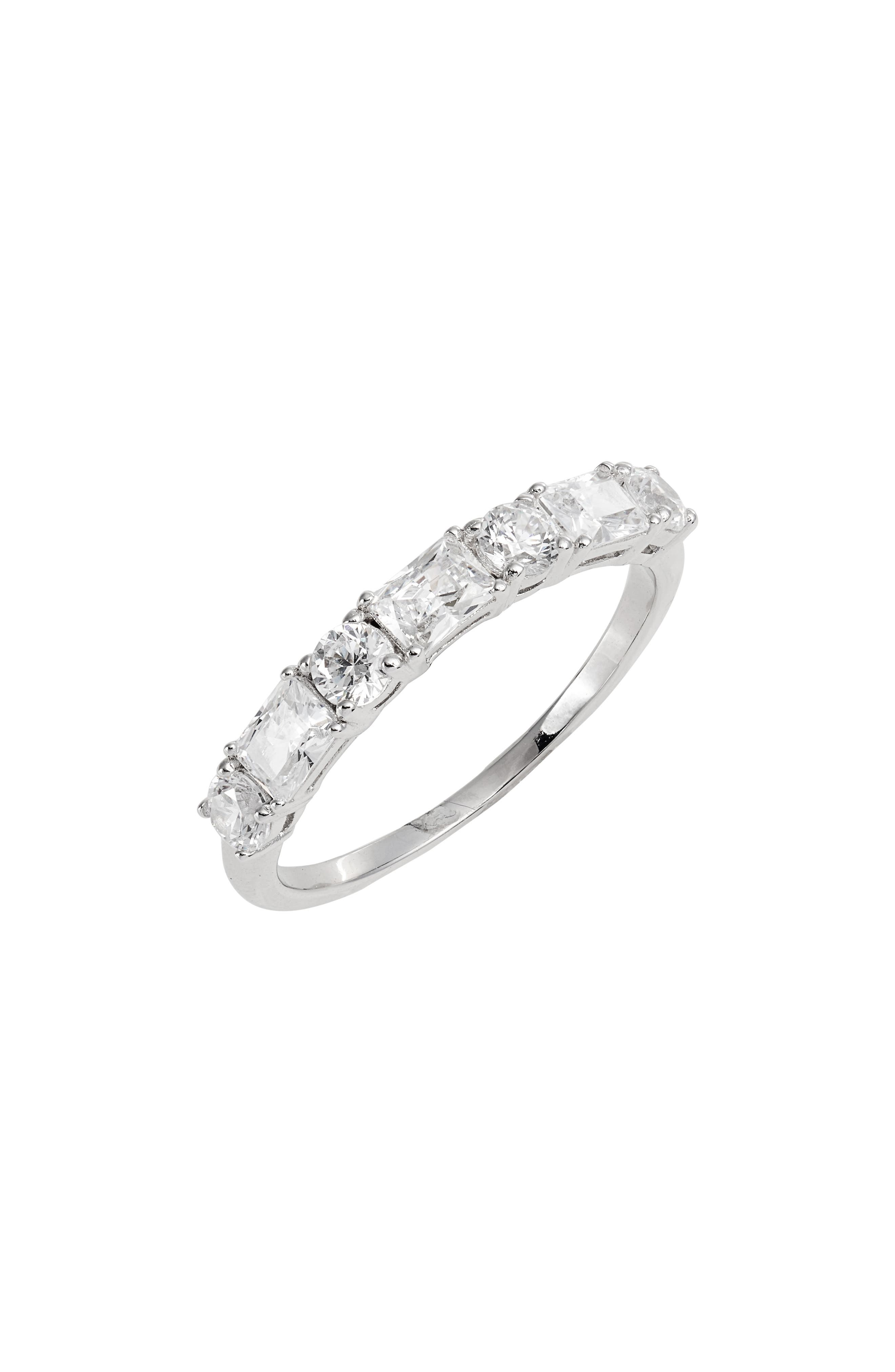 ce12f51d3 Rhodium Plated Stacked Rings for Women | Nordstrom