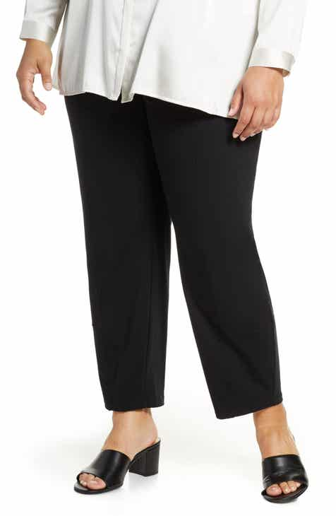 d066e7ef6f Eileen Fisher Stretch Organic Cotton Lantern Pants (Plus Size)