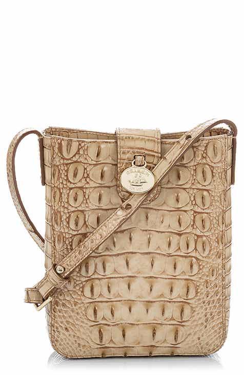 ae6da47983ce8d Brahmin Marley Croc Embossed Leather Crossbody Bag