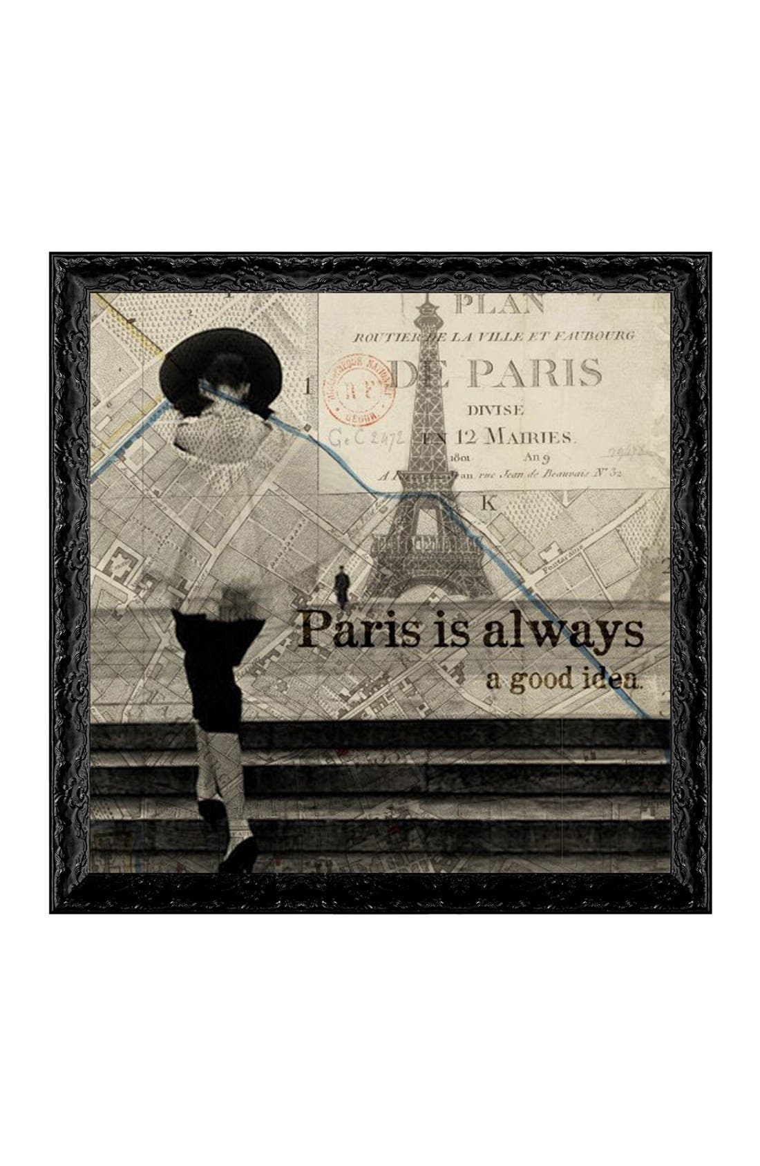 Alternate Image 1 Selected - Oliver Gal 'Paris Is Always a Good Idea' Framed Art Print