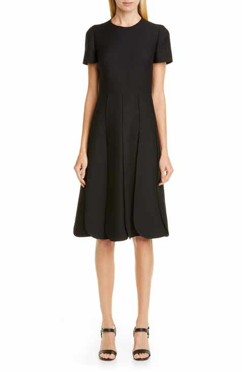 65c5eac57aca Valentino Pleated Wool & Silk Midi Dress