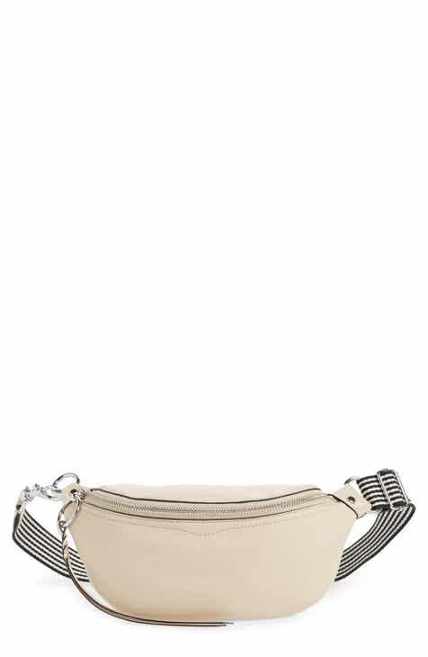 1638382b75 Rebecca Minkoff Bree Web Strap Leather Belt Bag