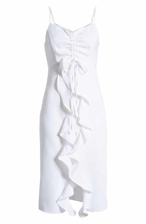 3c5819e2 Endless Rose Strapless Ruffle Front Midi Dress