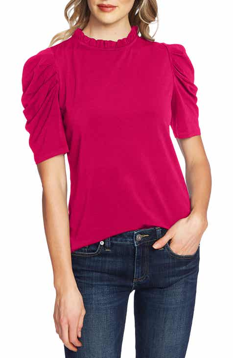 Sale CeCe Puff Sleeve Crepe Top