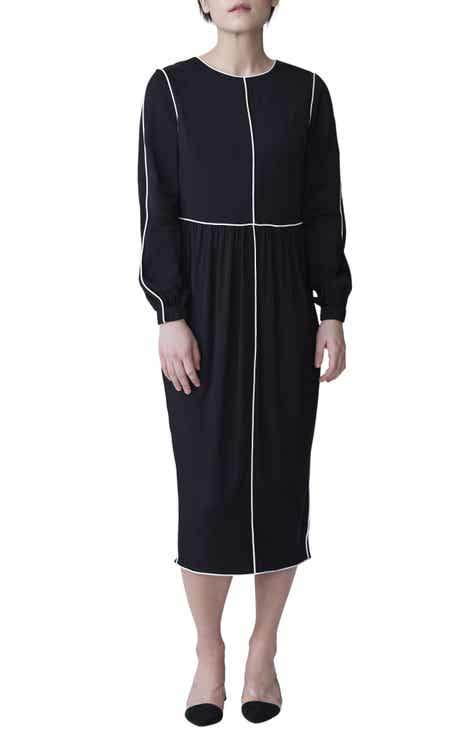 Universal Standard Arga Outline Long Sleeve Dress (Regular & Plus Size)