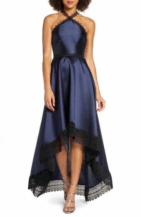 9900475797907 ML Monique Lhuillier High/Low Mikado Gown