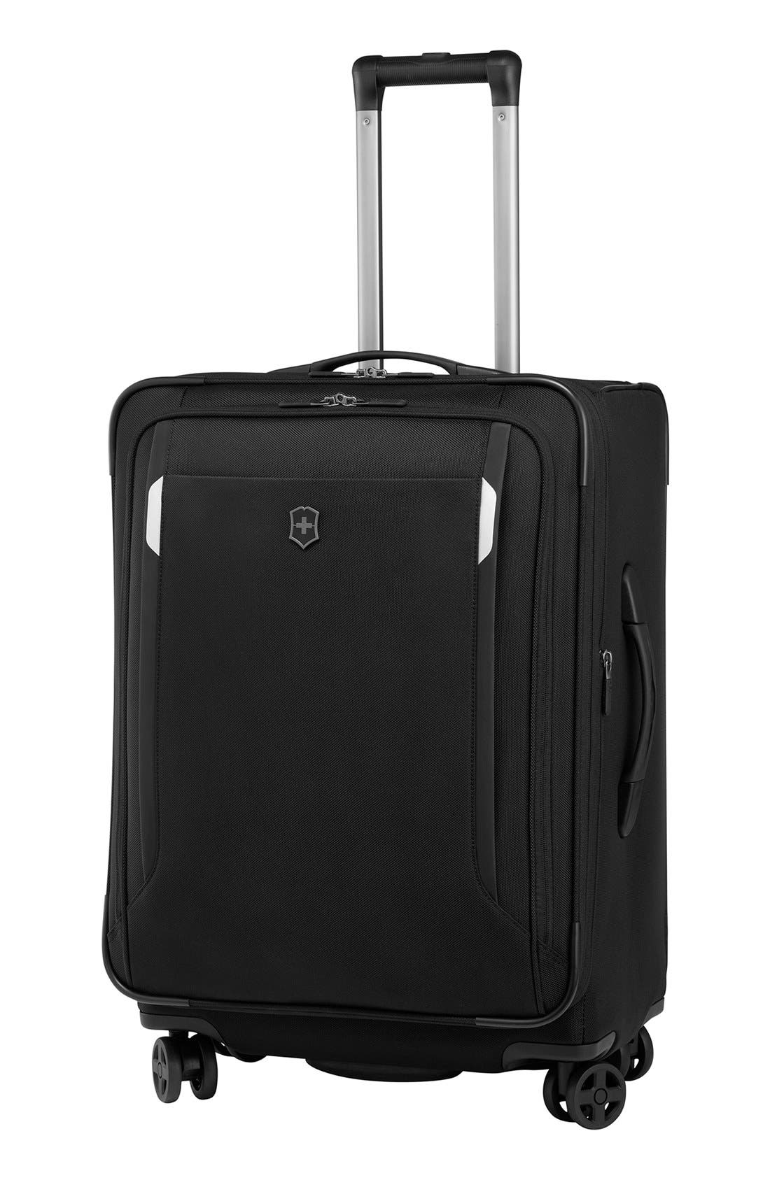 WT 5.0 Dual Caster Wheeled 24-Inch Packing Case,                             Main thumbnail 1, color,                             Black
