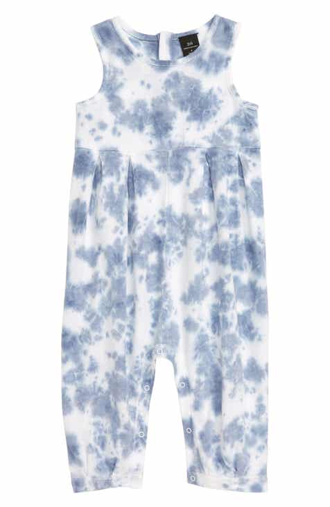 6255a5f1f Something Navy Tie Dye Romper (Baby) (Nordstrom Exclusive)
