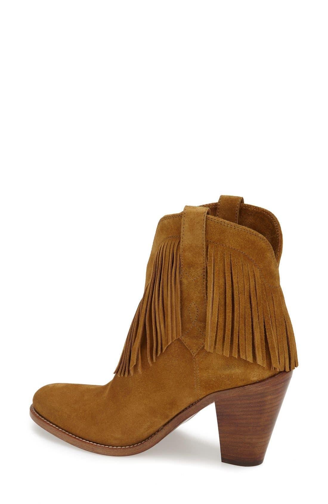 Alternate Image 2  - Saint Laurent 'New Western' Fringe Boot (Women)