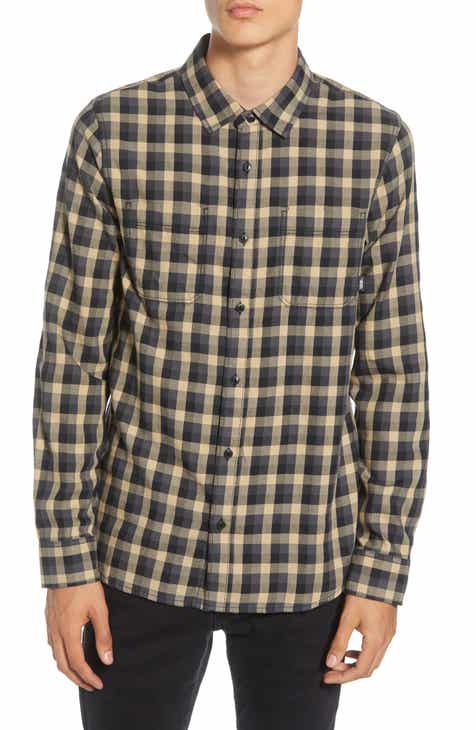 fdf31b7618f8 Vans Alameda II Tailored Fit Check Button-Up Flannel Shirt