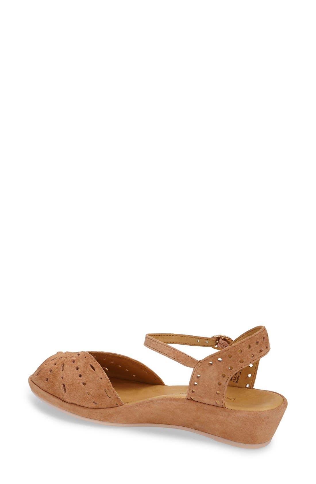 'Brenn' Ankle Strap Sandal,                             Alternate thumbnail 2, color,                             Cognac Suede