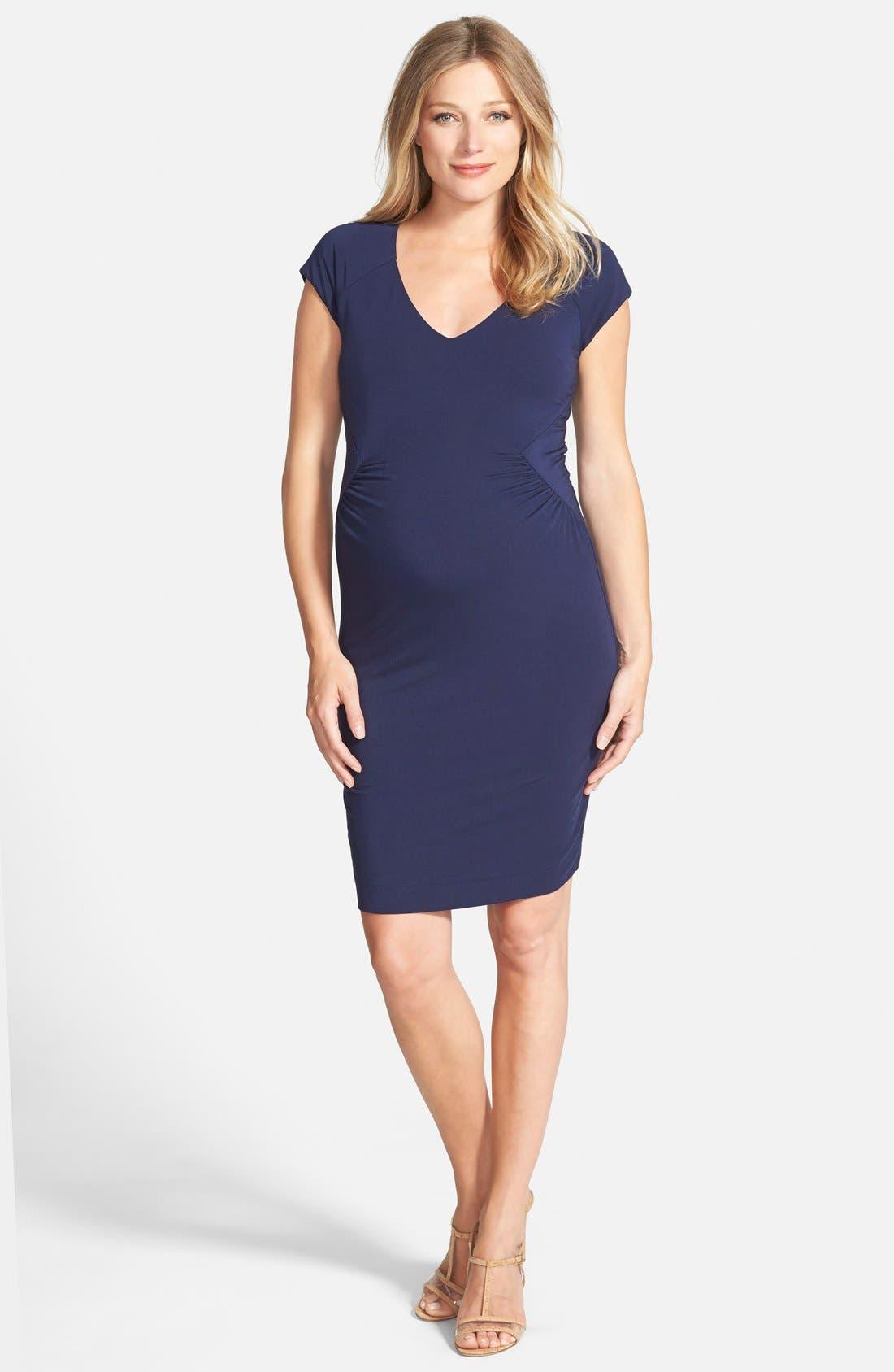 Main Image - Tart Maternity 'Freya' Print Body-Con Maternity Dress