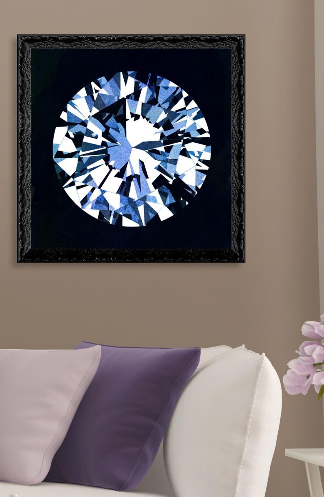 'Diamonds Are Forever' Framed Art Print,                             Alternate thumbnail 2, color,                             Black