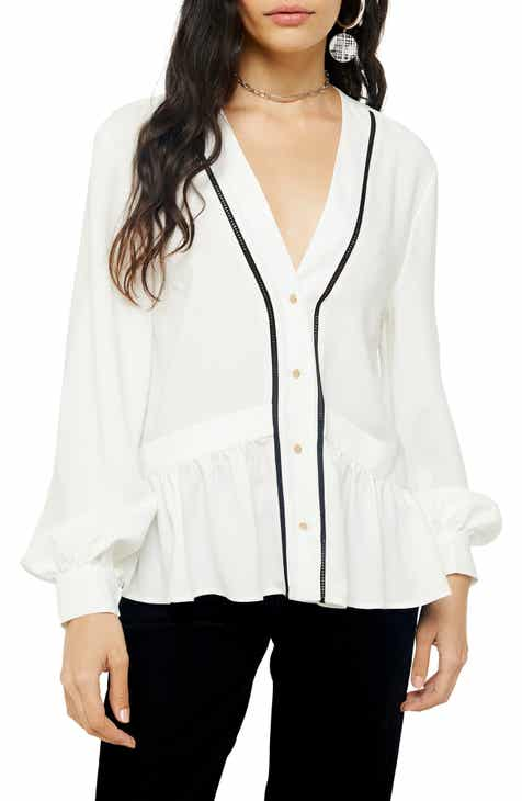 Topshop Chuckon Ladder Blouse