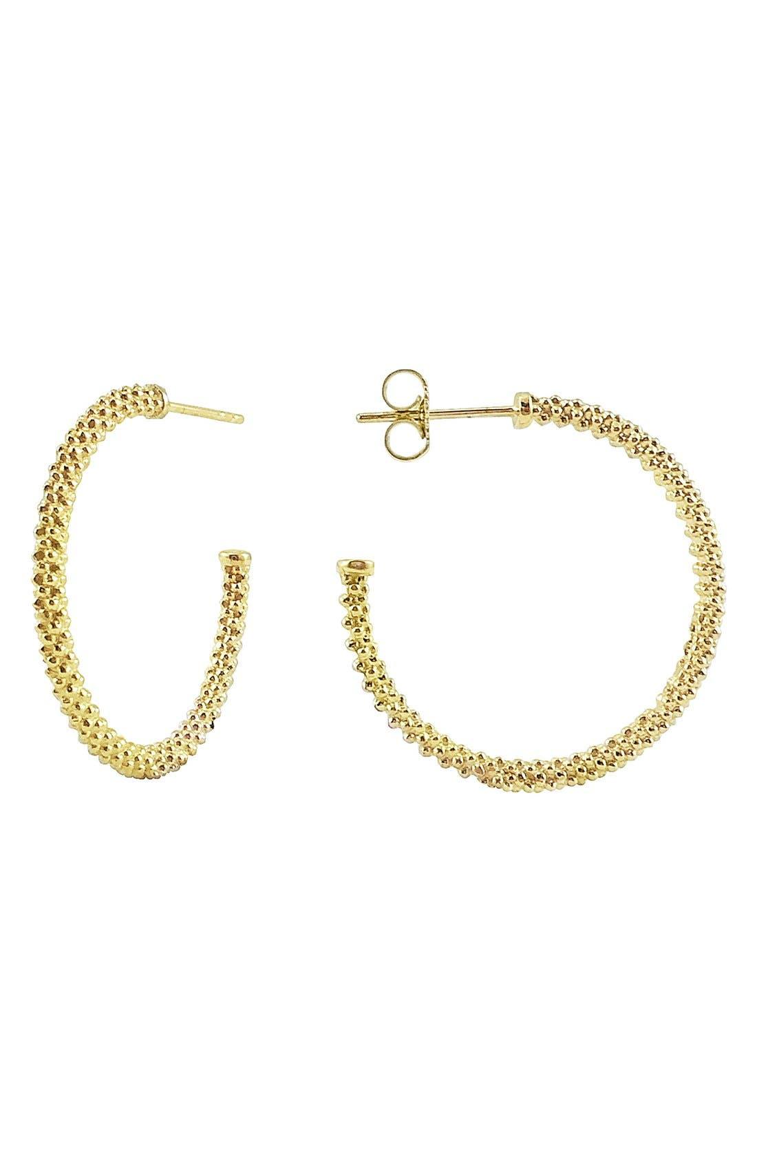 Caviar Hoop Earrings,                             Main thumbnail 1, color,                             Gold