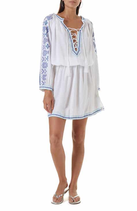 Melissa Odabash Ellie Embroidered Cover-Up Dress