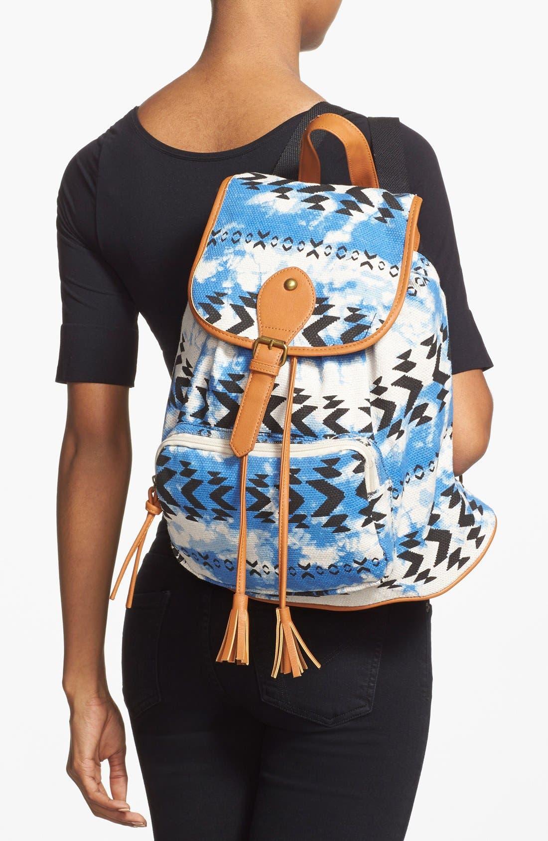 Alternate Image 2  - Lulu Geo Print Canvas Backpack (Juniors)