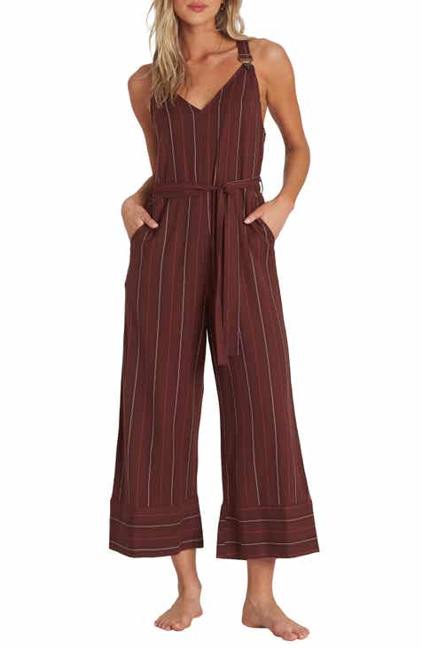 Billabong Bella Day Wide Leg Crop Jumpsuit