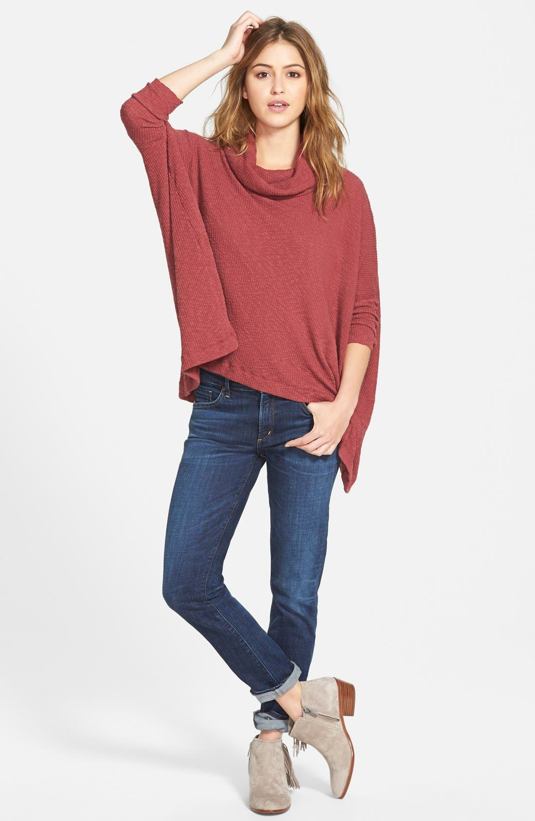 Alternate Image 5  - Free People 'World Traveler' Cowl Neck Pullover