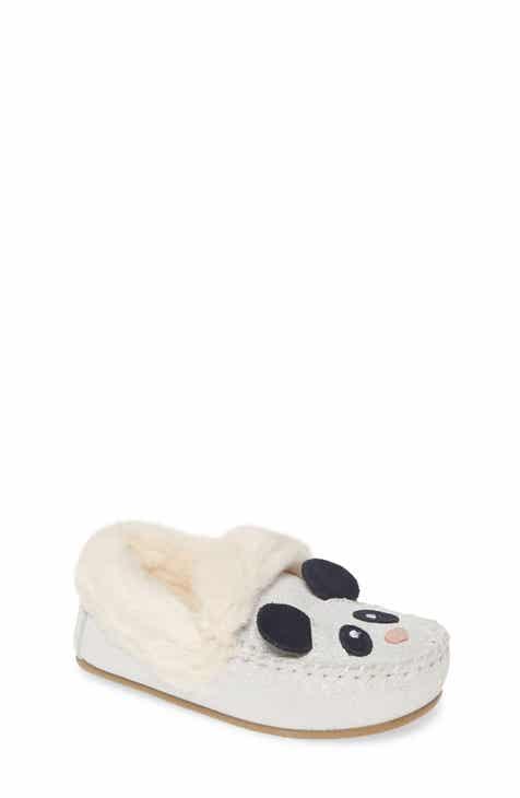 Mini Boden Faux Fur Slippers (Toddler & Little Kid)