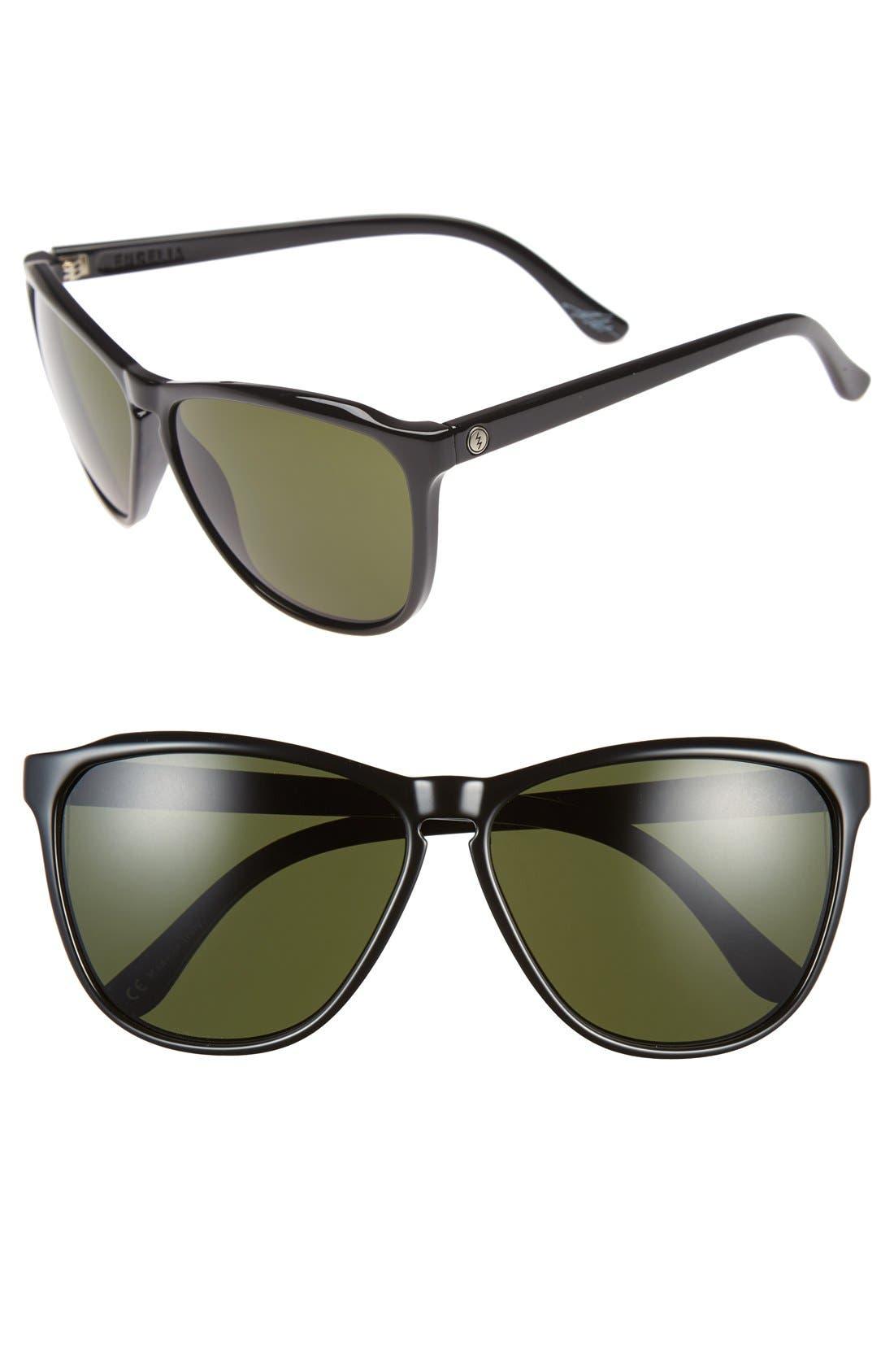 'Encelia' 61mm Retro Sunglasses,                         Main,                         color, Gloss Black/ Grey