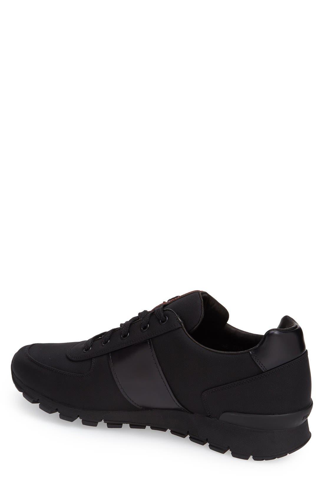 Runner Sneaker,                             Alternate thumbnail 2, color,                             Black Fabric