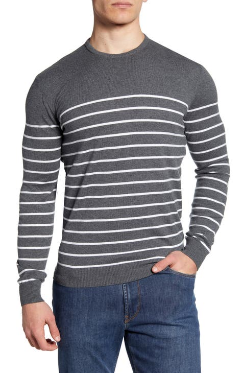 johnnie-O Shane Stripe Crewneck Sweater