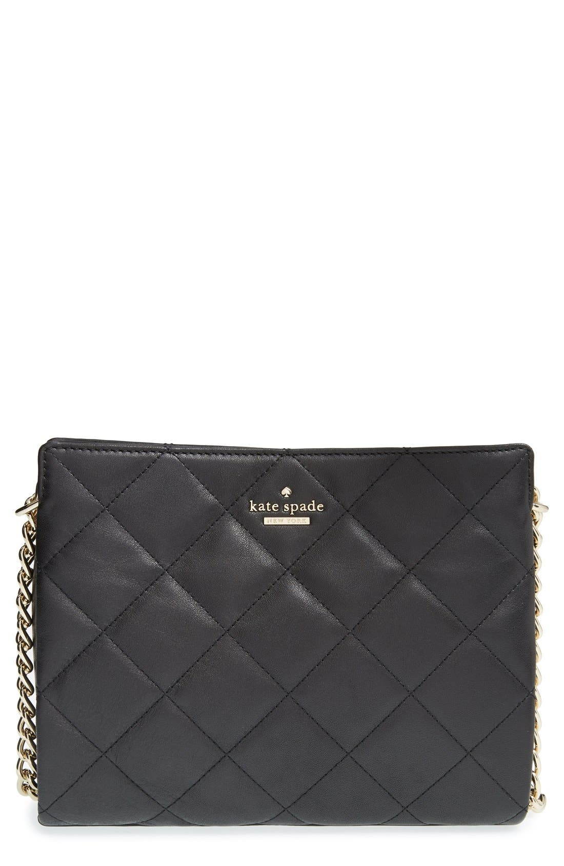 KATE SPADE NEW YORK emerson place - mini convertible phoebe quilted leather shoulder bag