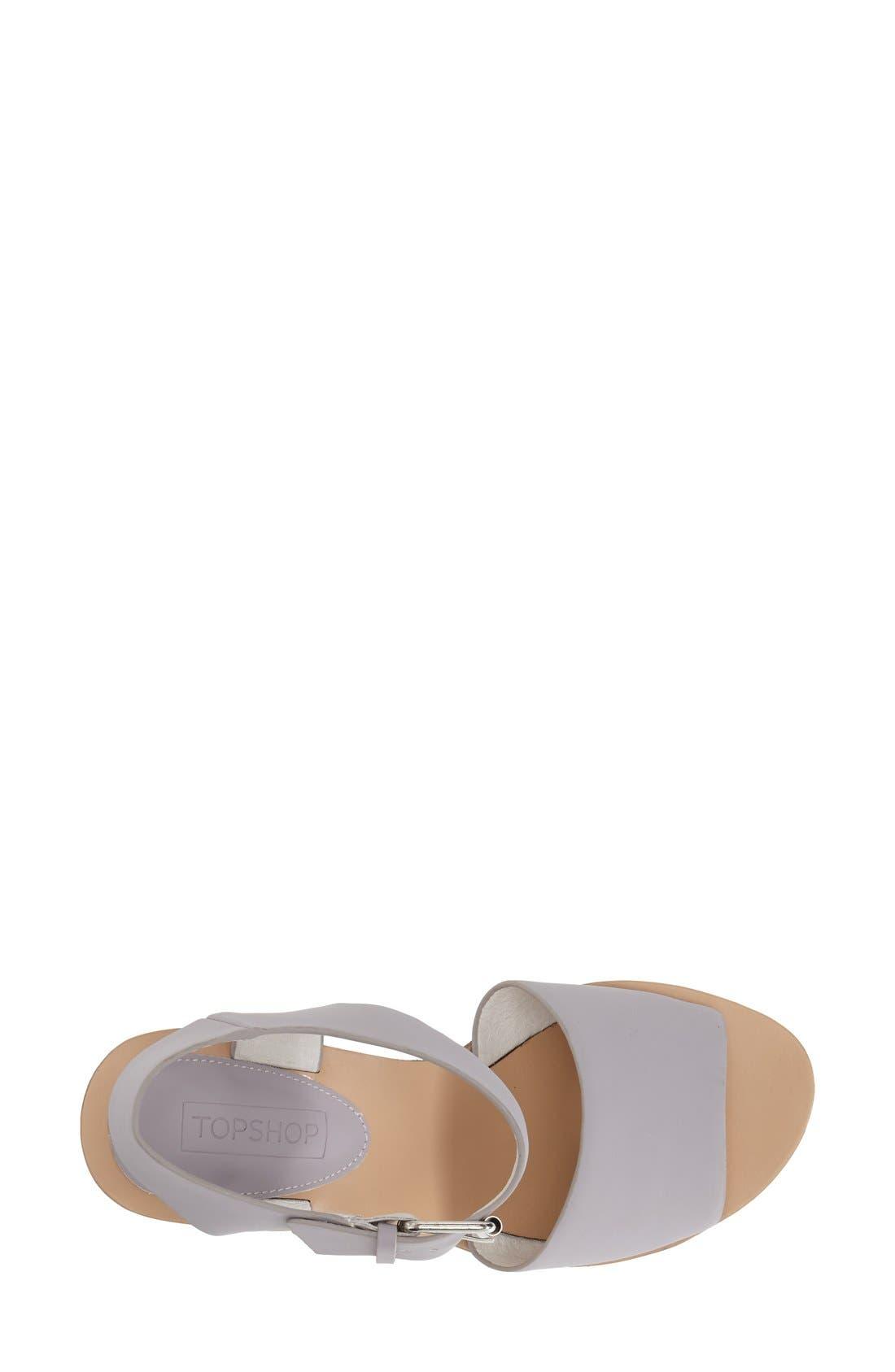 Alternate Image 3  - Topshop 'Wedding' Wedge Sandal (Women)