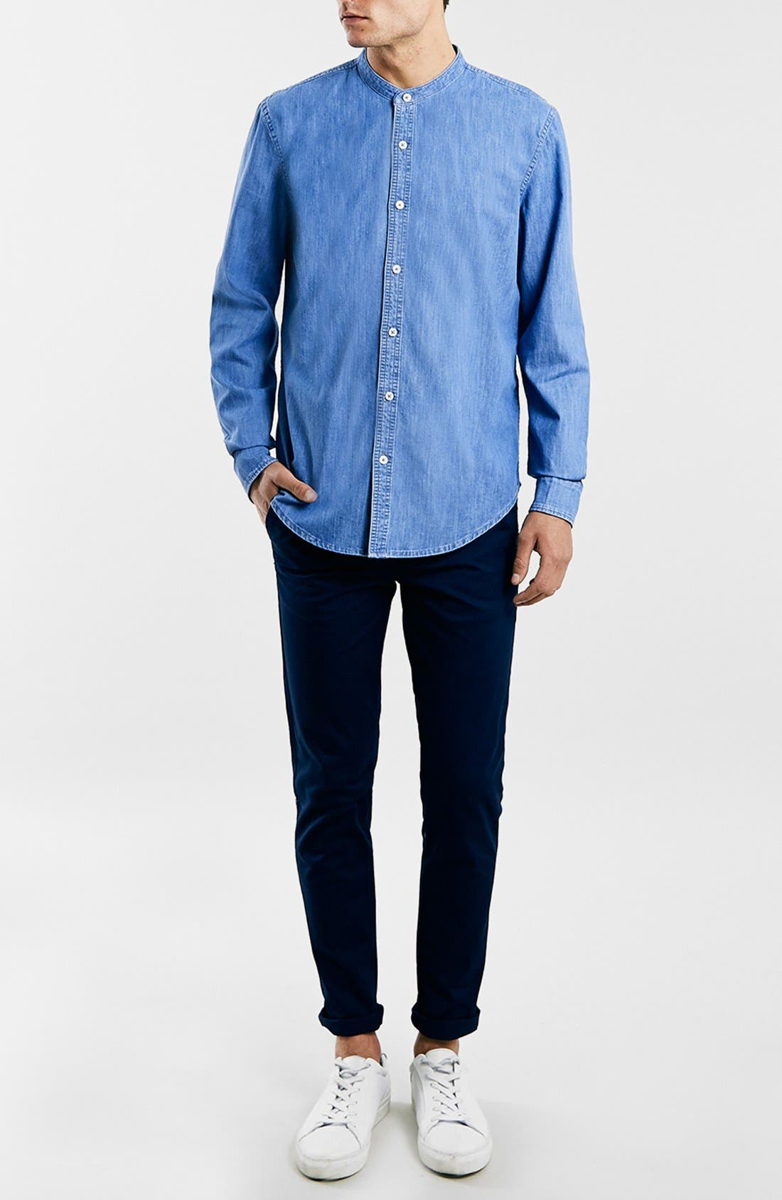 Alternate Image 2  - Topman Stretch Skinny Fit Chinos