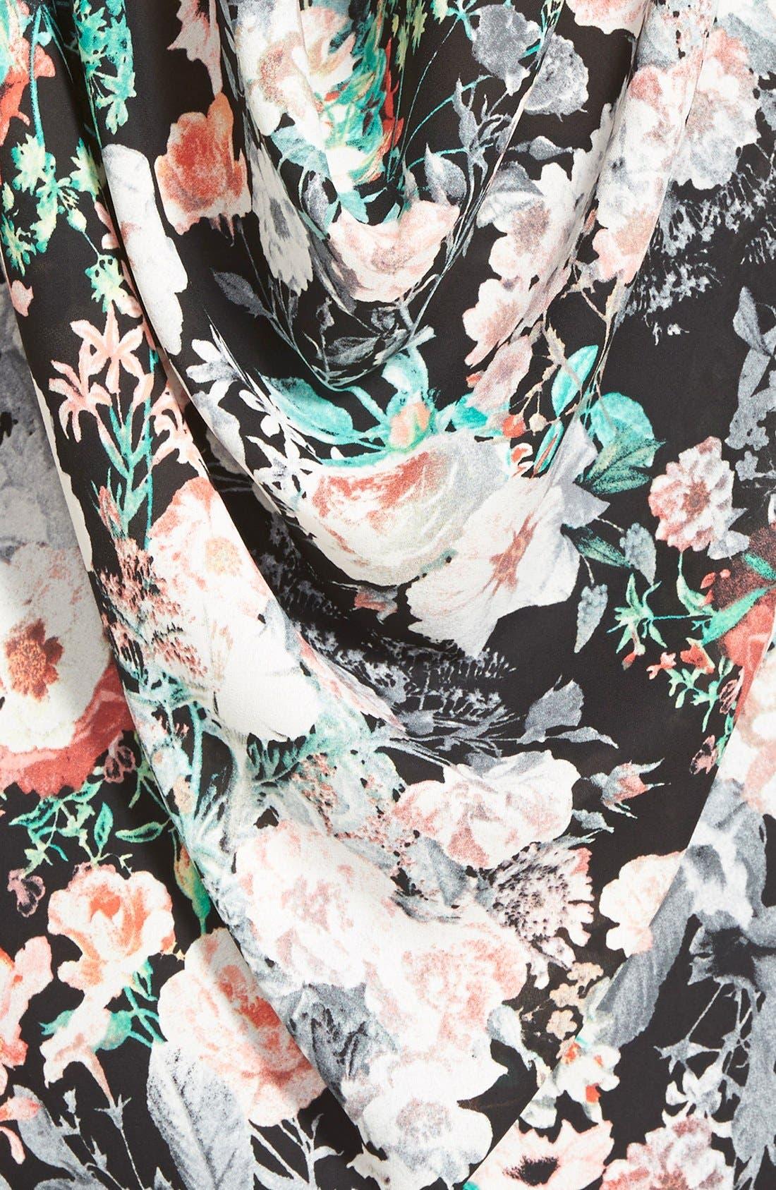 Alternate Image 3  - Leith Floral Print Drape Back Tank