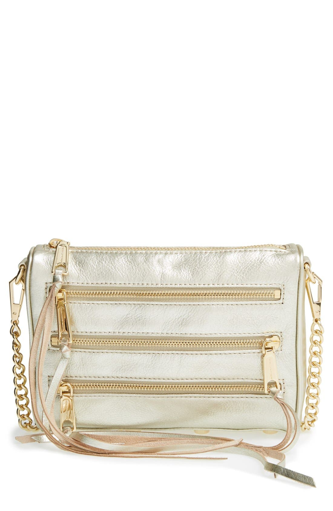 Alternate Image 1 Selected - Rebecca Minkoff 'Mini 5 Zip' Crossbody Bag