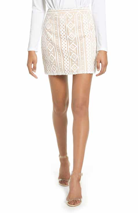 Endless Rose Eyelet Miniskirt