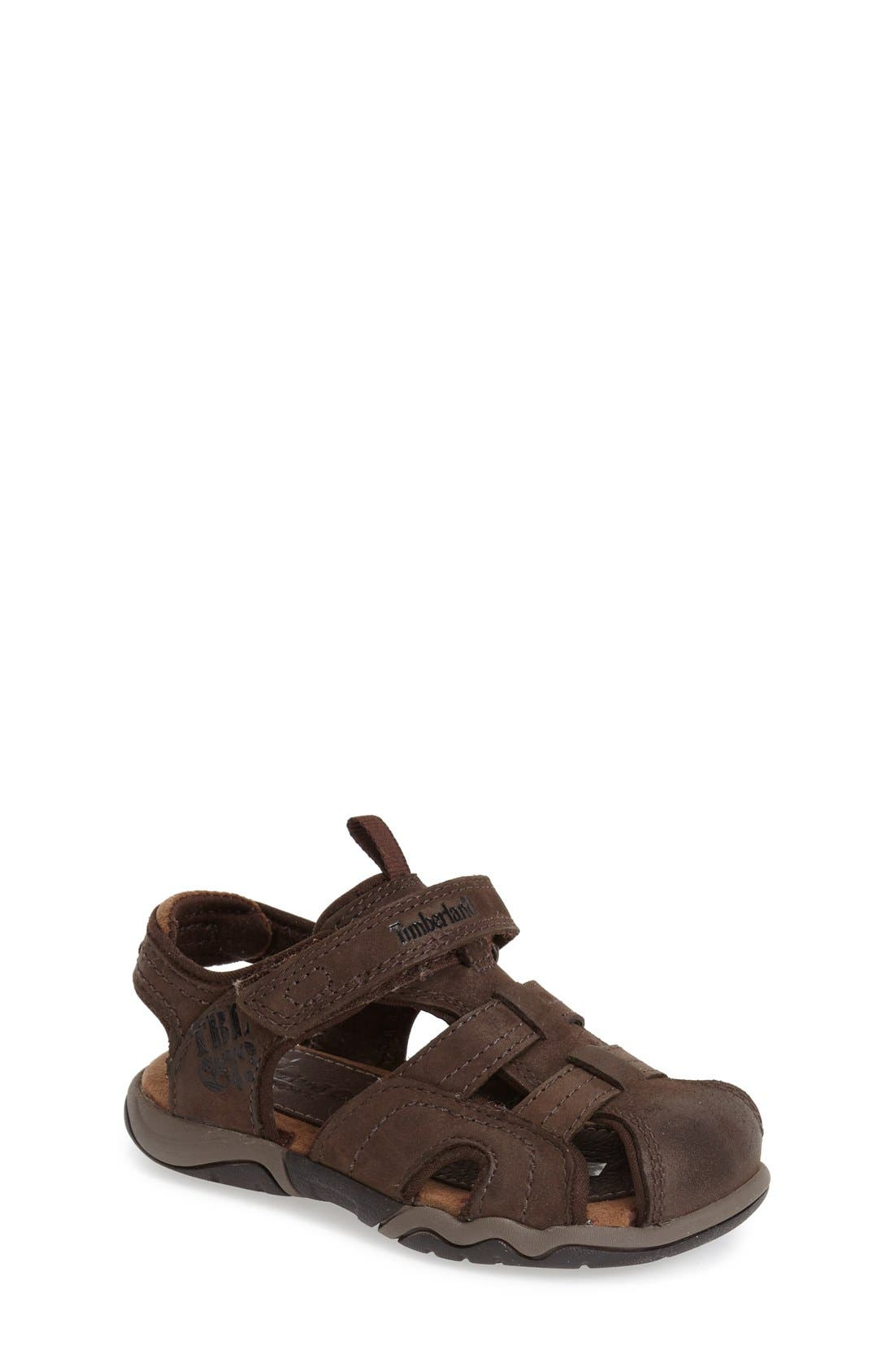 Timberland 'Oakbluff' Closed Toe Fisherman Sandal (Baby, Walker & Toddler)
