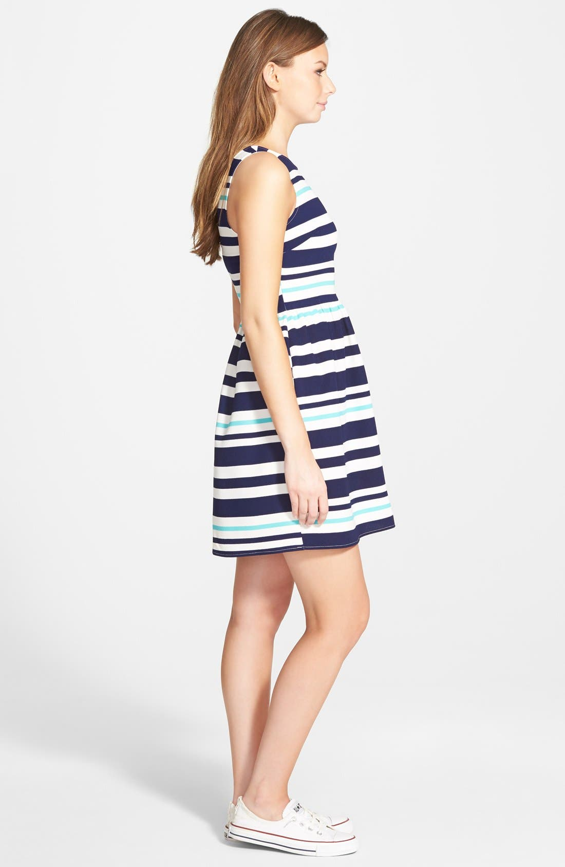 Alternate Image 3  - Everly Stripe Skater Dress