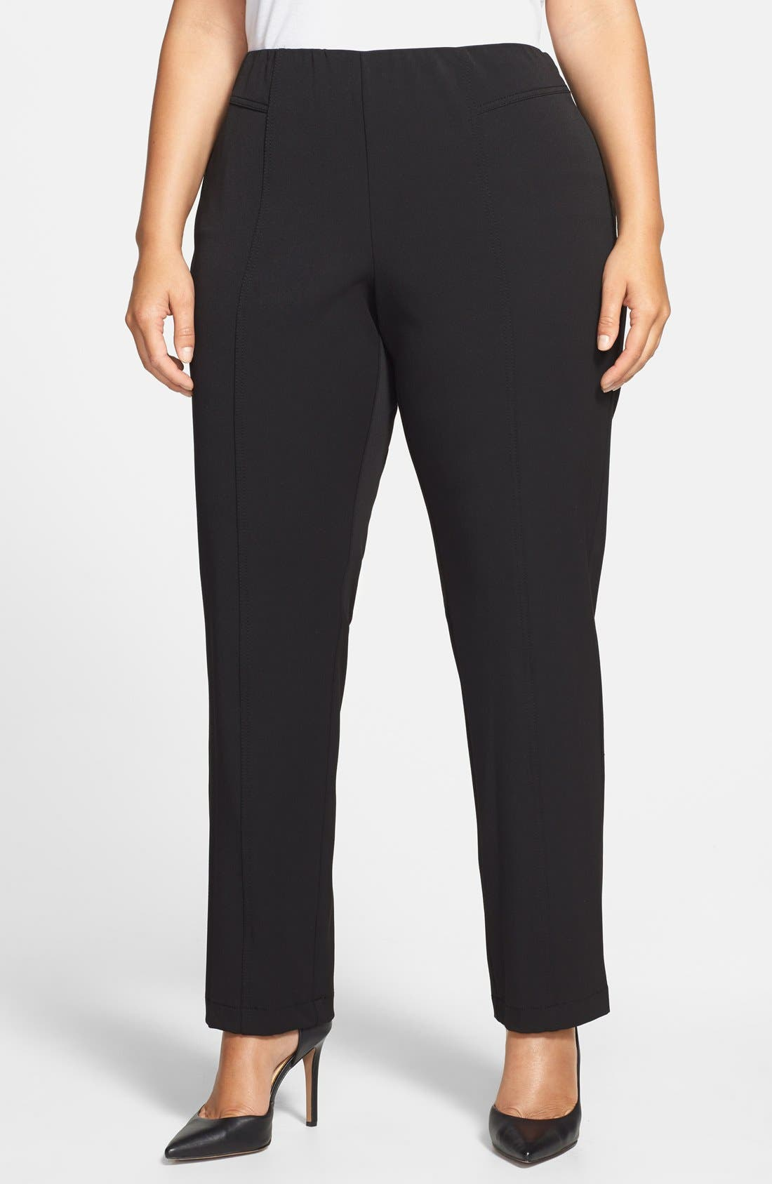 Alternate Image 1 Selected - Vince Camuto Seam Detail Pants (Plus Size)