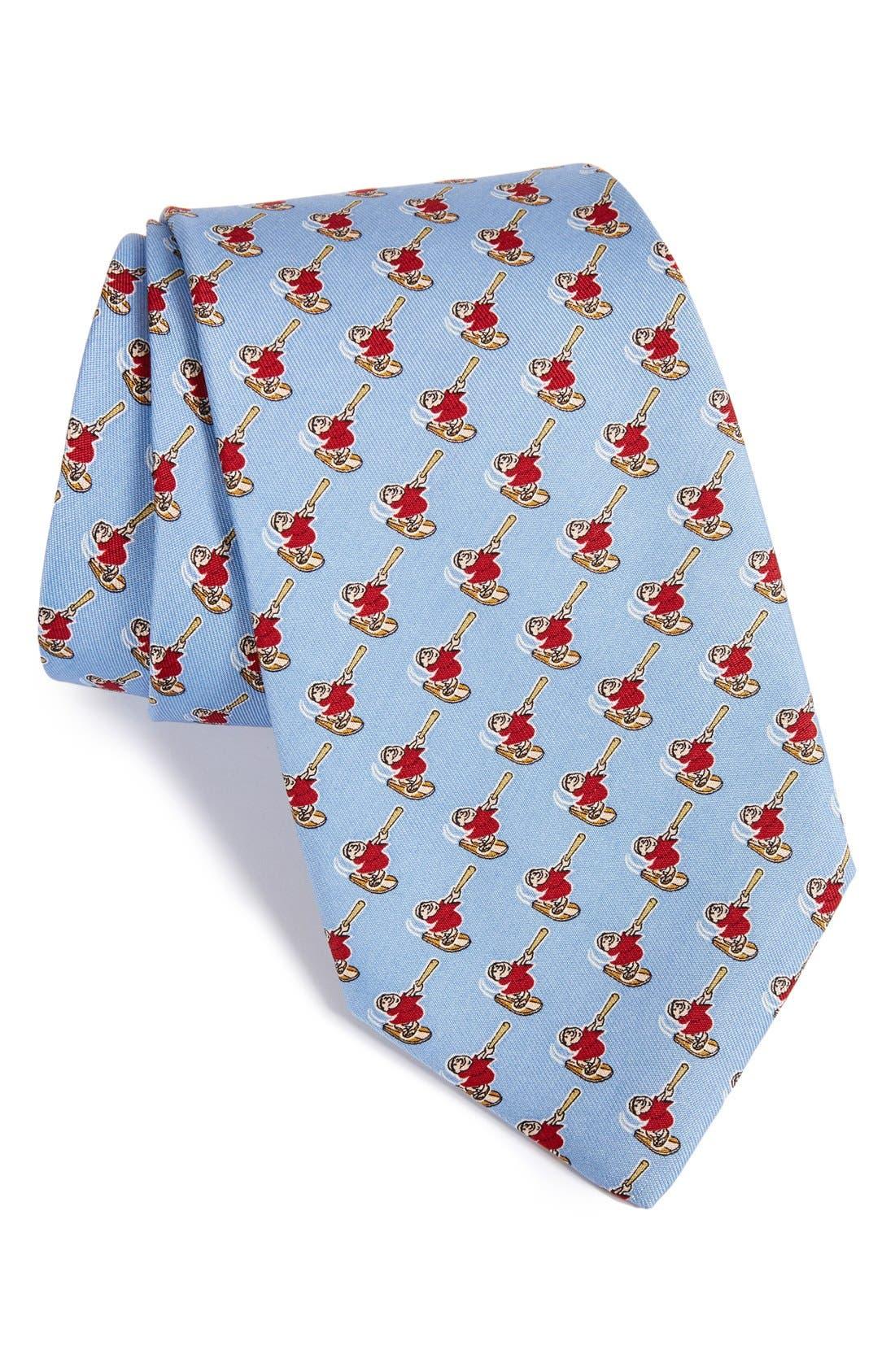'San Diego Padres - MLB' Print Silk Tie,                         Main,                         color, Periwinkle