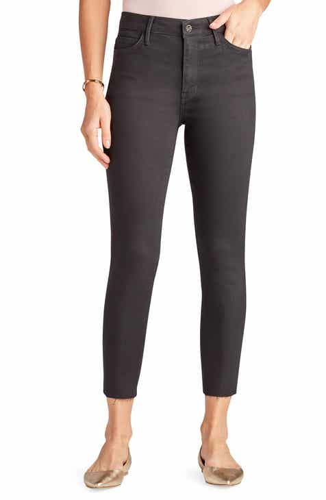 Sam Edelman The Stiletto High Waist Raw Hem Crop Skinny Jeans (Mercedes)