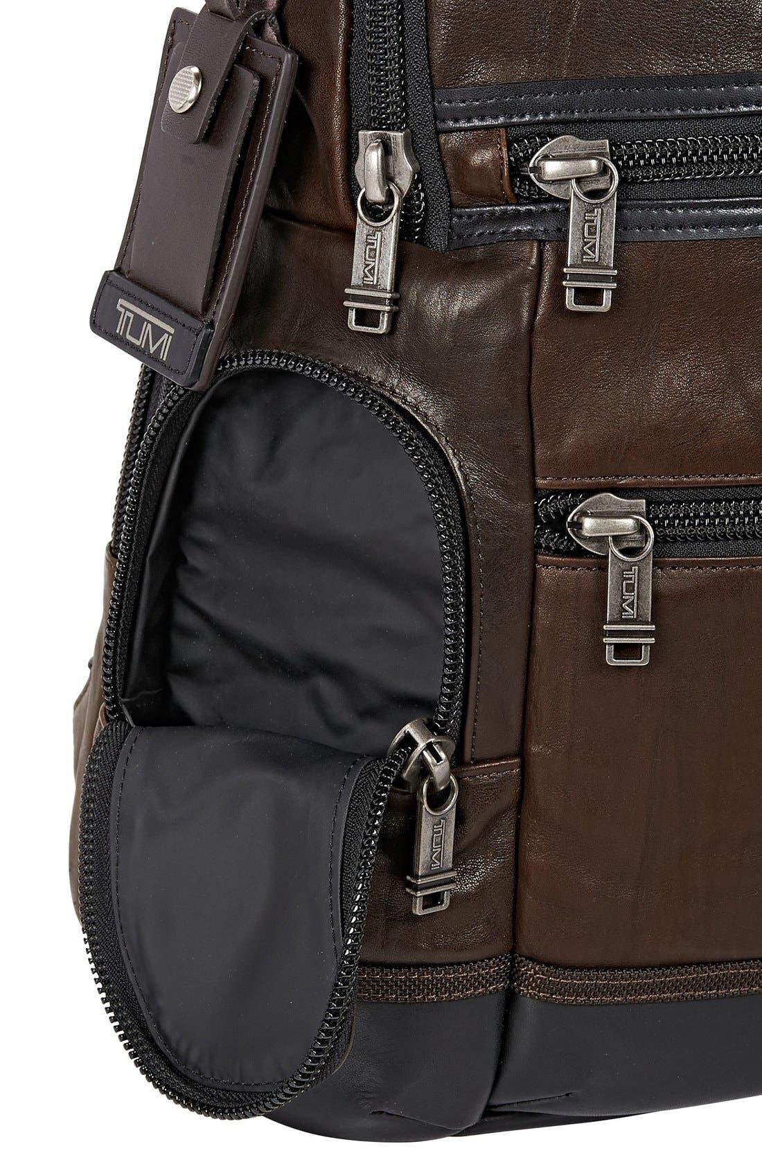 Alternate Image 4  - Tumi 'Bravo - Knox' Leather Backpack
