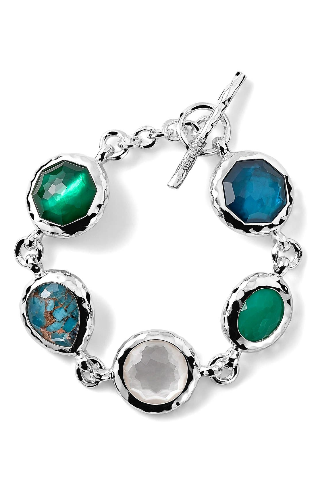 Alternate Image 1 Selected - Ippolita 'Wonderland' 5-Stone Toggle Bracelet (Nordstrom Exclusive)