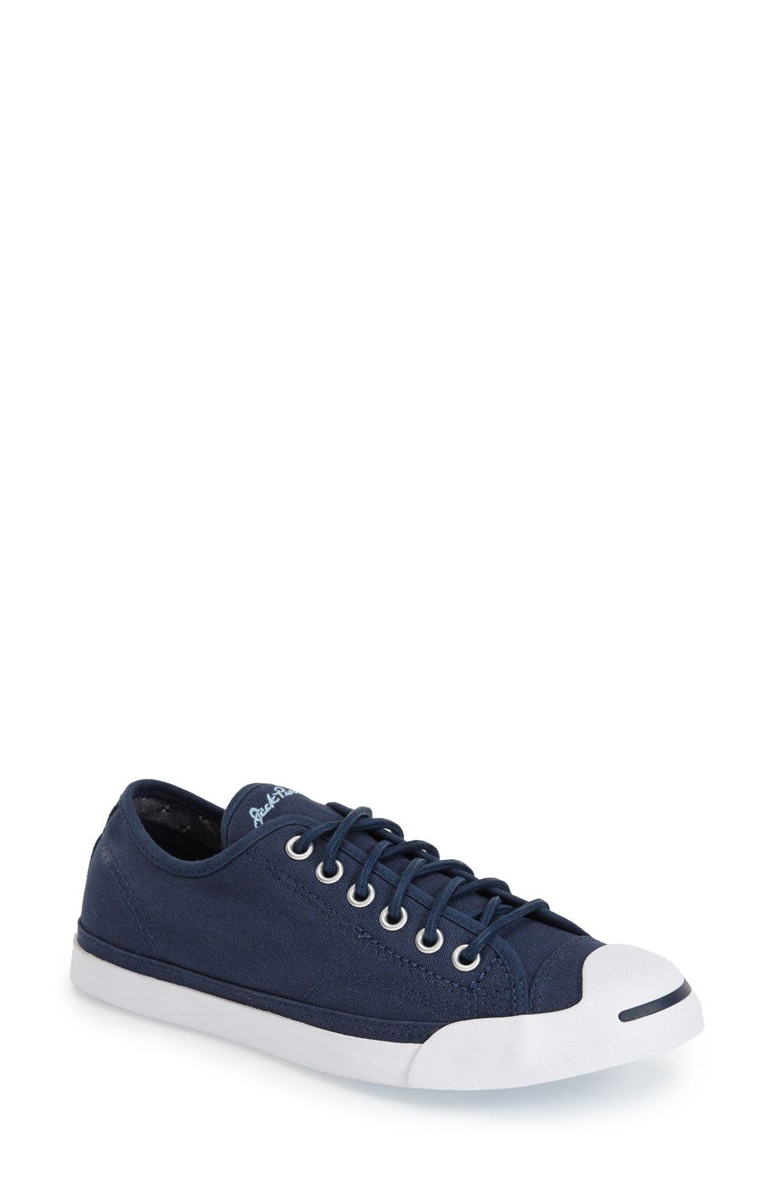 'Jack Purcell' Low Top Slip On Sneaker,                             Main thumbnail 1, color,                             Navy/ Blue/ White