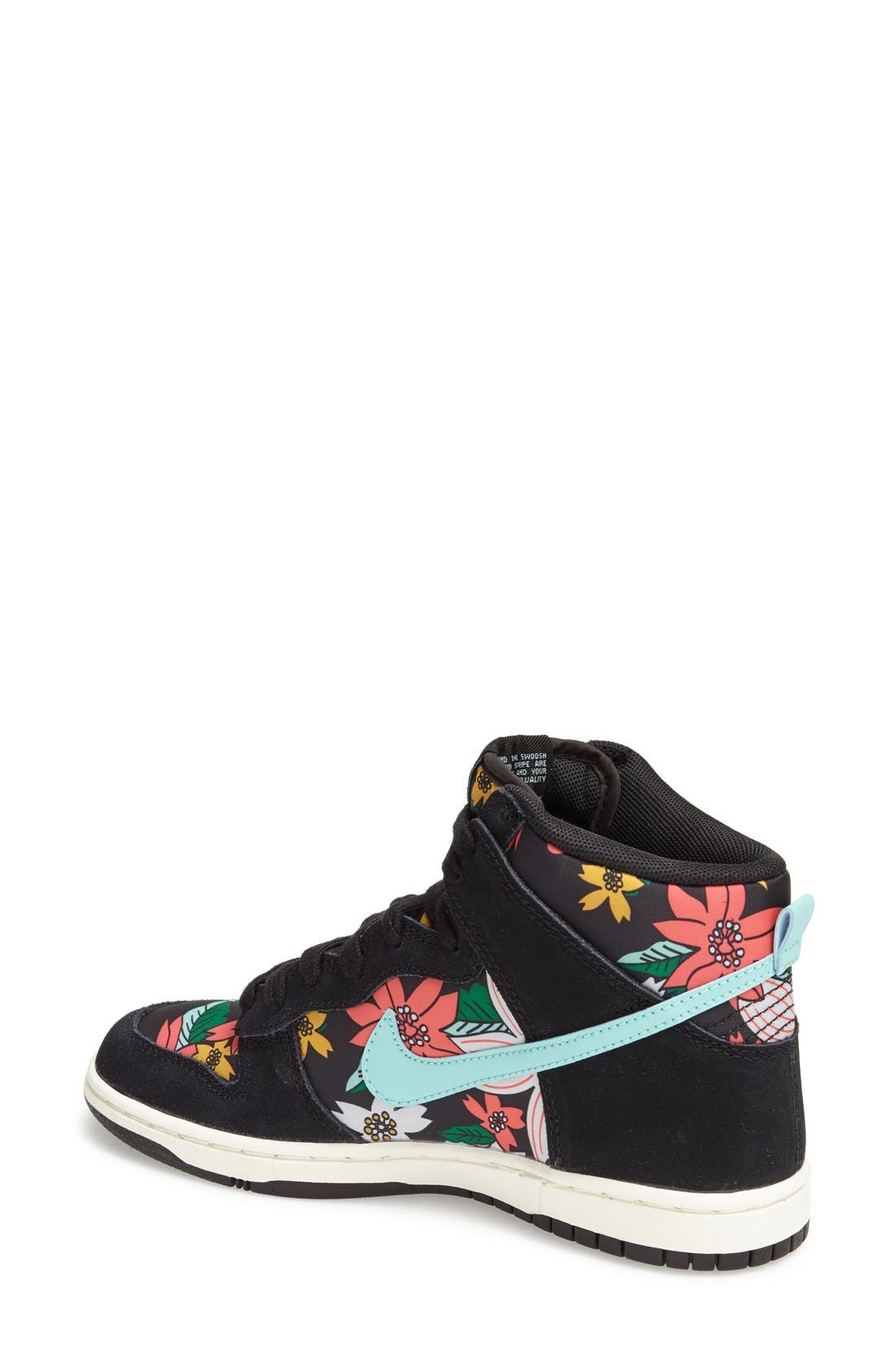 Alternate Image 2  - Nike 'Dunk Hi - Skinny Print' High Top Basketball Sneaker