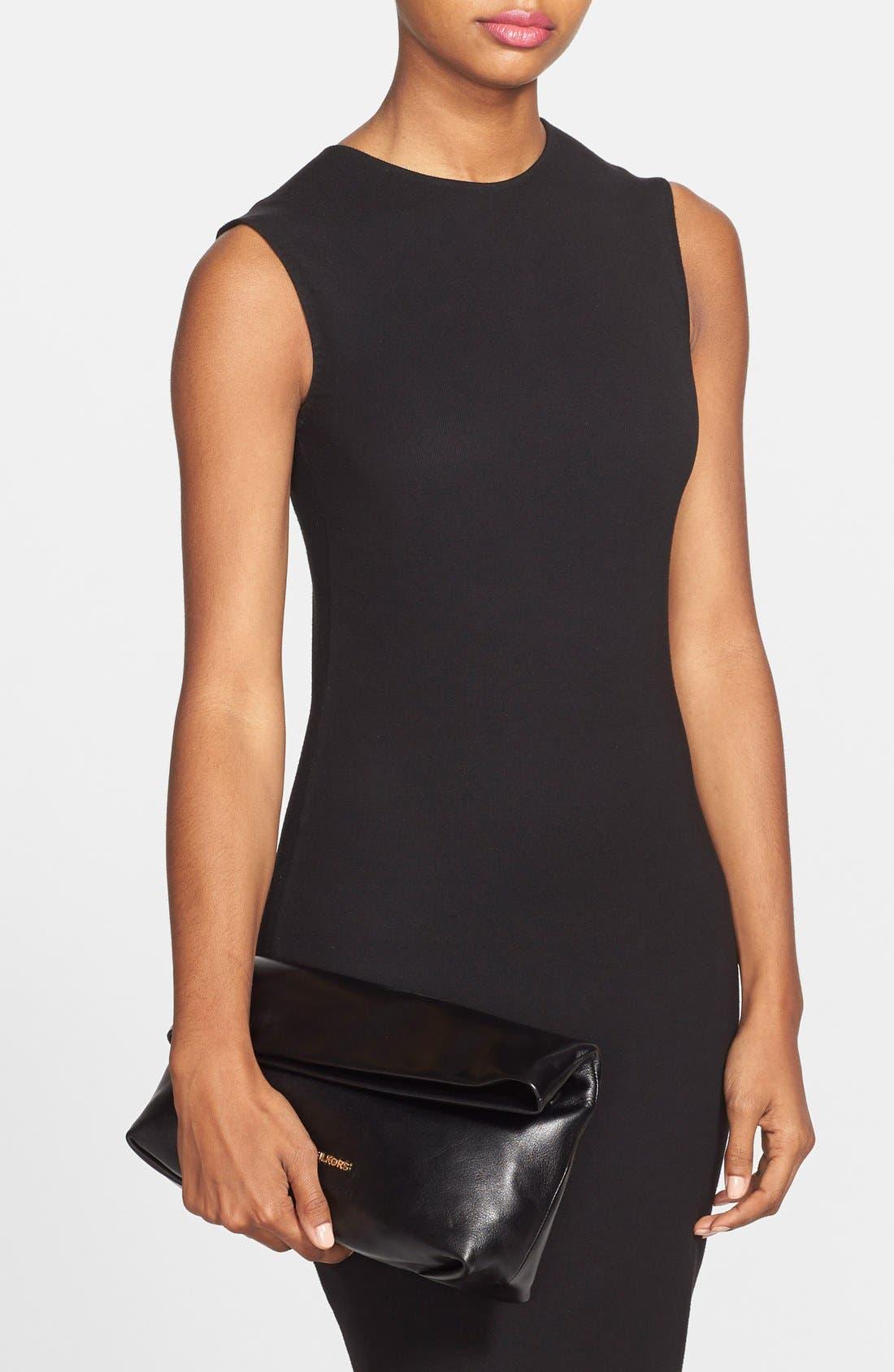 Alternate Image 2  - MICHAEL Michael Kors 'Daria' Leather Foldover Clutch