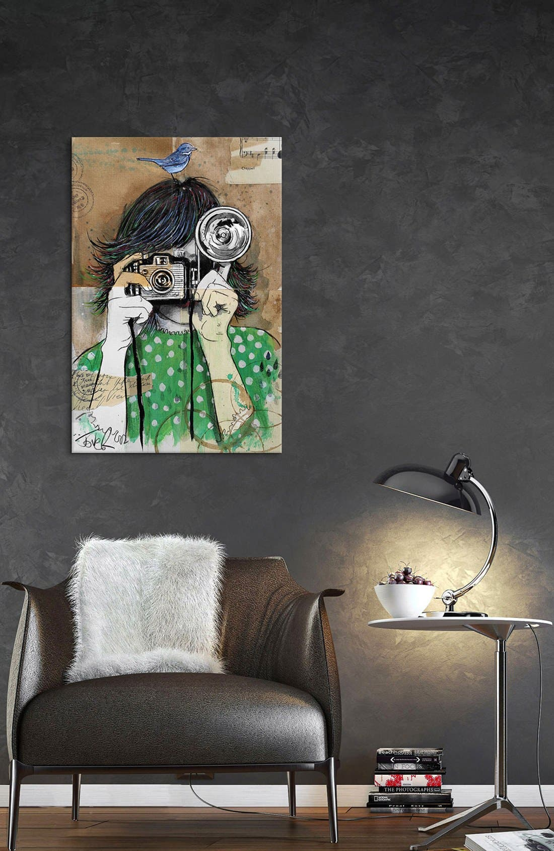 'Little Moments' Giclée Print Canvas Art,                             Alternate thumbnail 2, color,                             Green