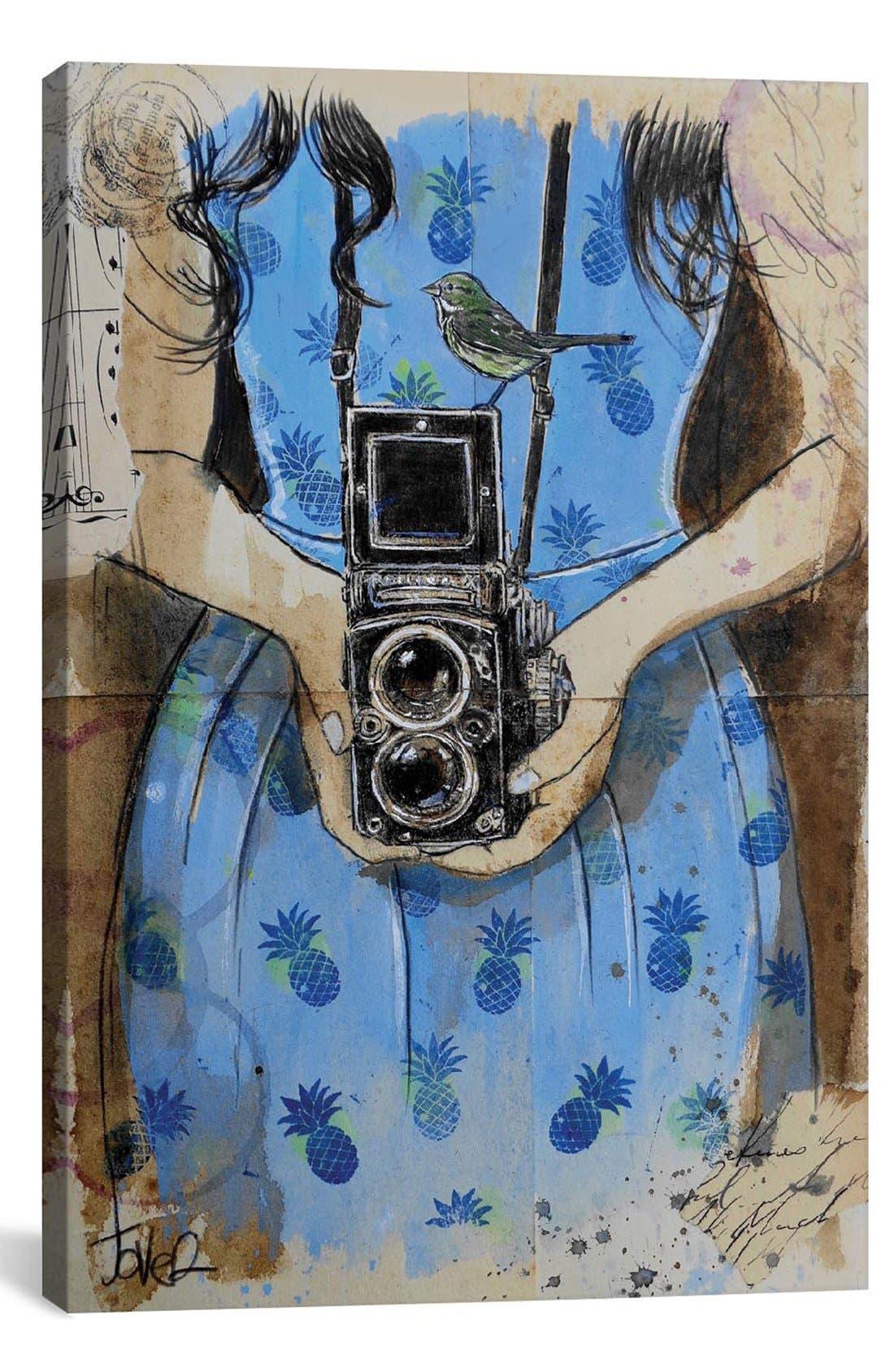 'Holiday Notes' Giclée Print Canvas Art,                         Main,                         color, Blue
