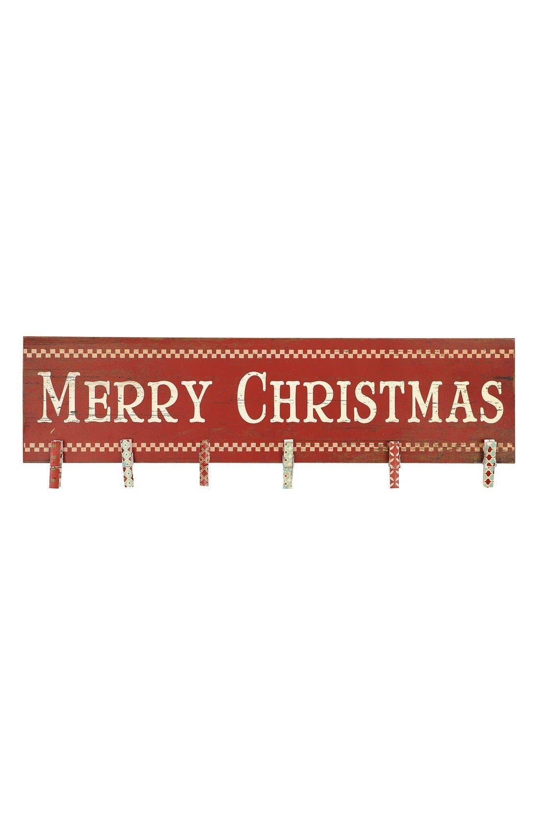 Main Image - Creative Co-Op 'Merry Christmas' Wood Card Holder