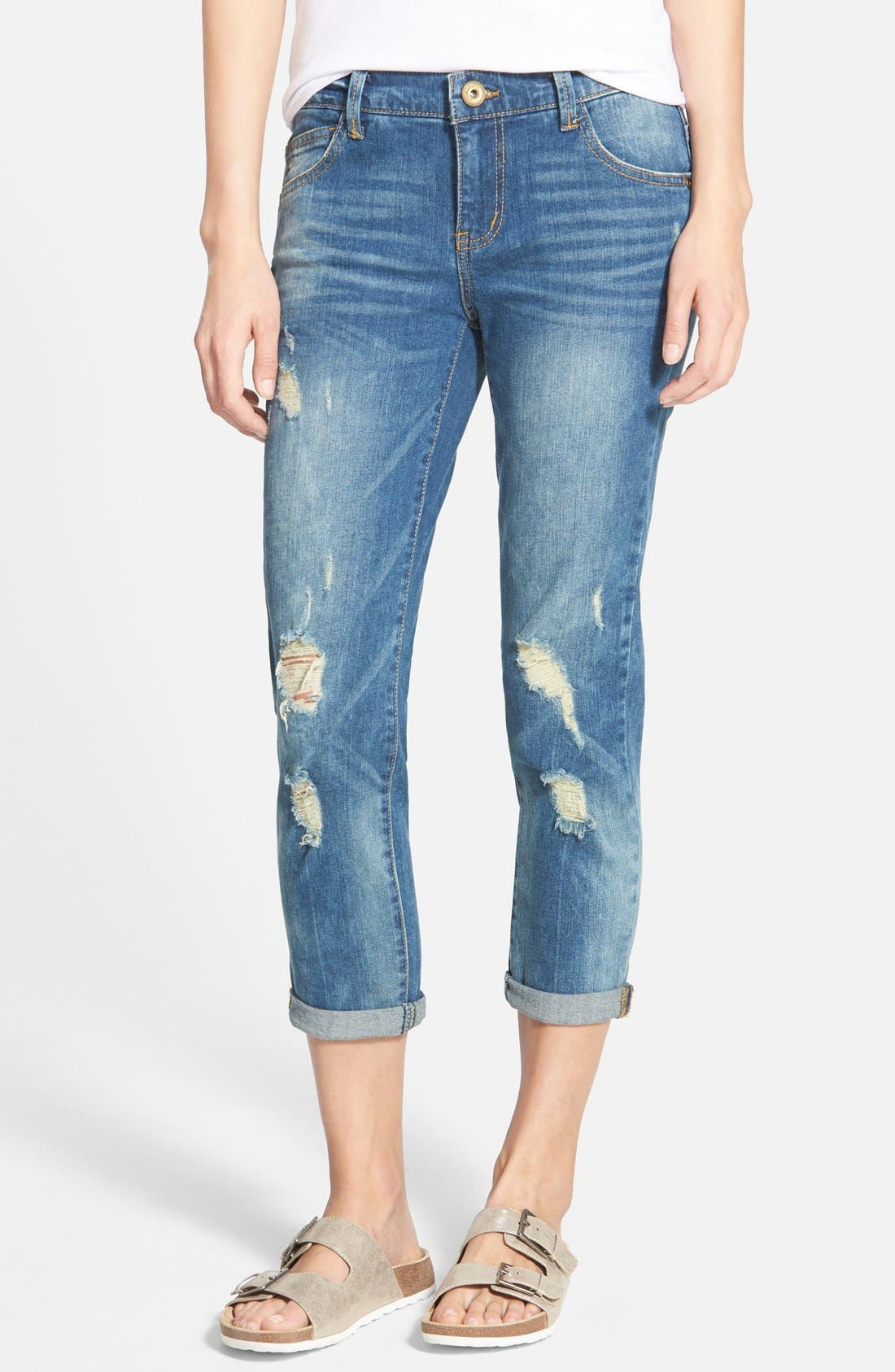 Alternate Image 1 Selected - Jolt 'Girlfriend' Relaxed Jeans