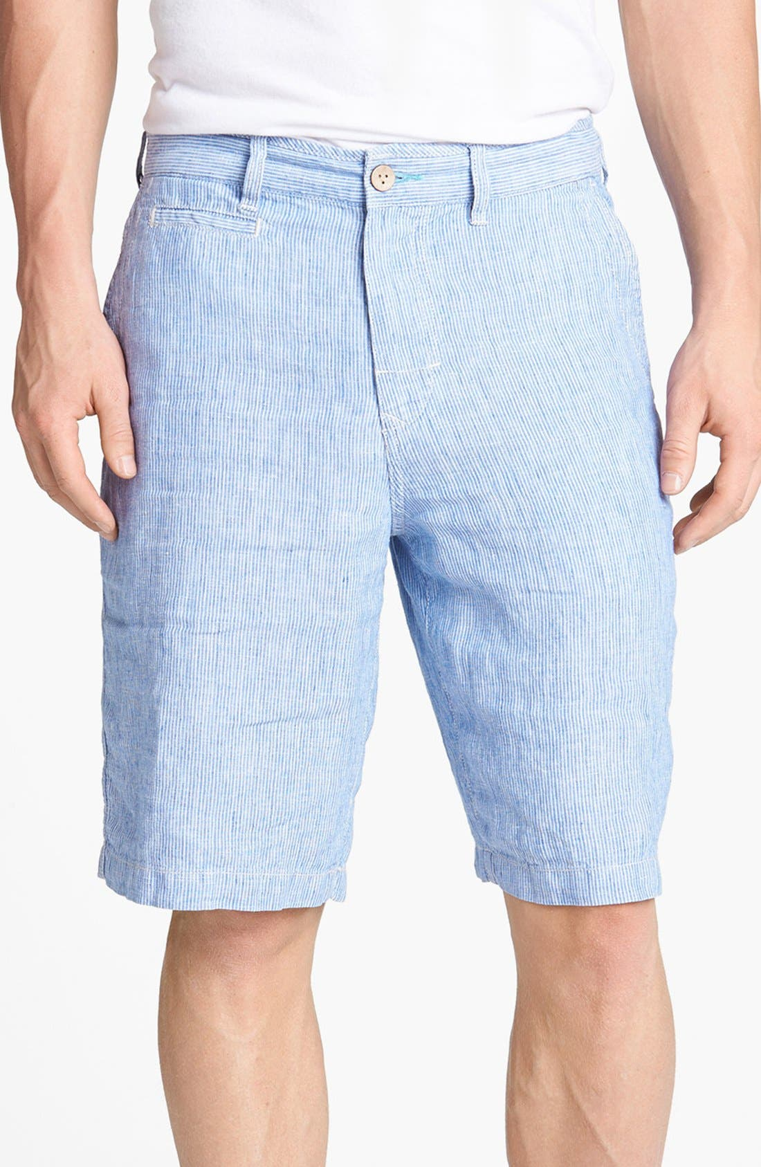 Alternate Image 1 Selected - Tommy Bahama 'Line of the Times' Relaxed Fit Striped Linen Shorts